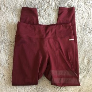 Stronger label Enta Maroon Tights leggings